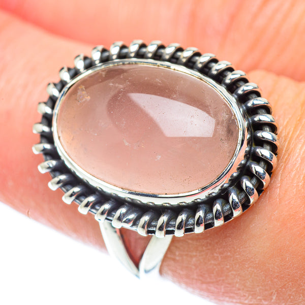Rose Quartz Rings handcrafted by Ana Silver Co - RING55625