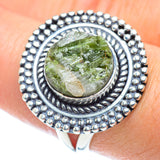 Green Tourmaline In Quartz Rings handcrafted by Ana Silver Co - RING55661