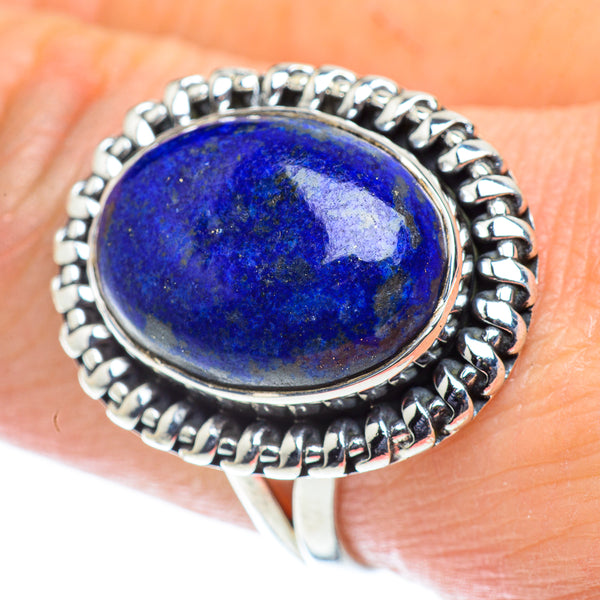 Lapis Lazuli Rings handcrafted by Ana Silver Co - RING55693