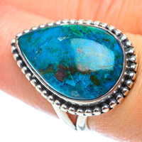 Chrysocolla Rings handcrafted by Ana Silver Co - RING55694