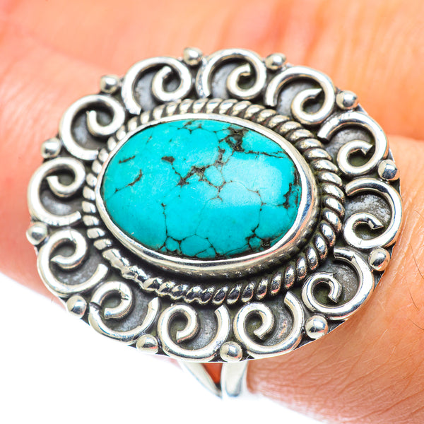 Tibetan Turquoise Rings handcrafted by Ana Silver Co - RING55745