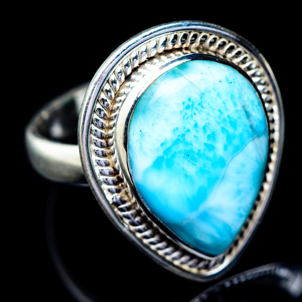 Larimar Rings handcrafted by Ana Silver Co - RING5594