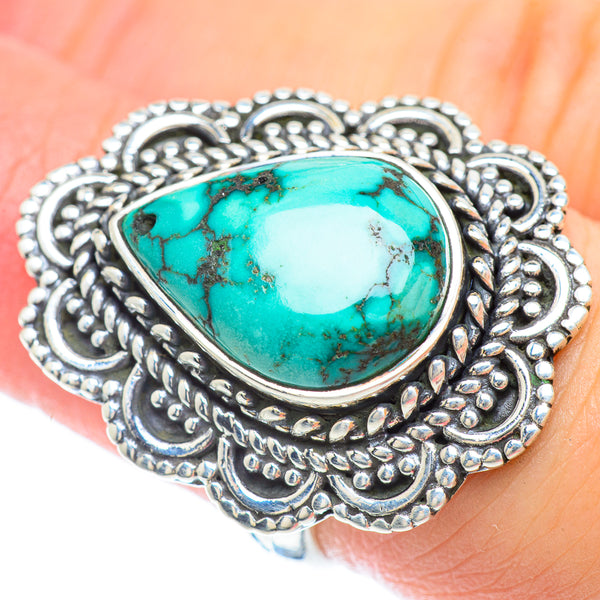 Tibetan Turquoise Rings handcrafted by Ana Silver Co - RING56241