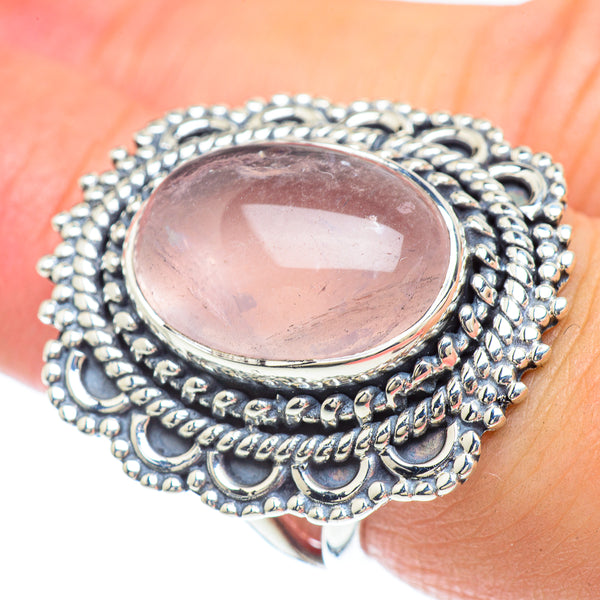 Rose Quartz Rings handcrafted by Ana Silver Co - RING57410