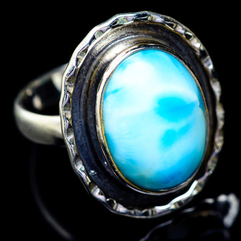 Larimar Rings handcrafted by Ana Silver Co - RING5822