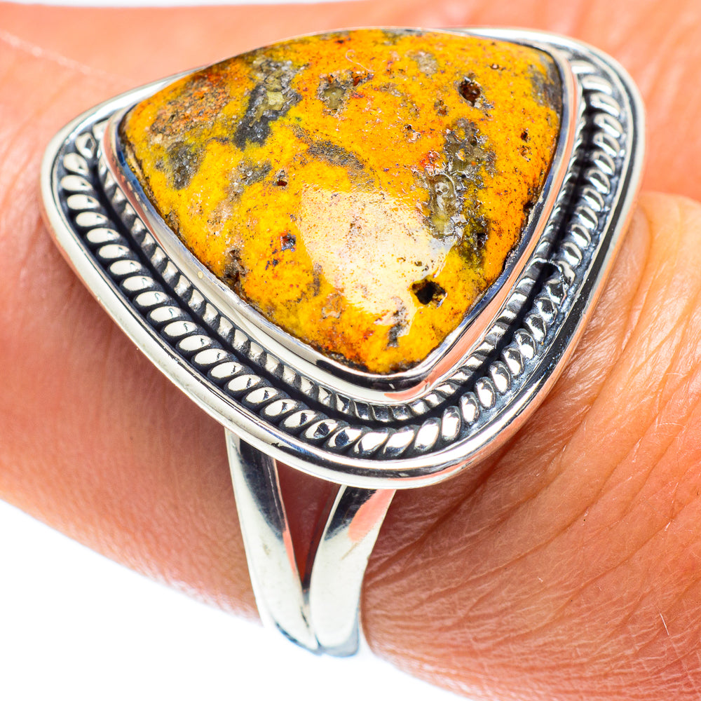 Solid 925 Sterling Silver Bumble Bee Ring Men/'s Ottoman Ring Natural Jasper Ring Handmade Boy/'s Ring Bumble Bee Ring Best Gift for Him Ring