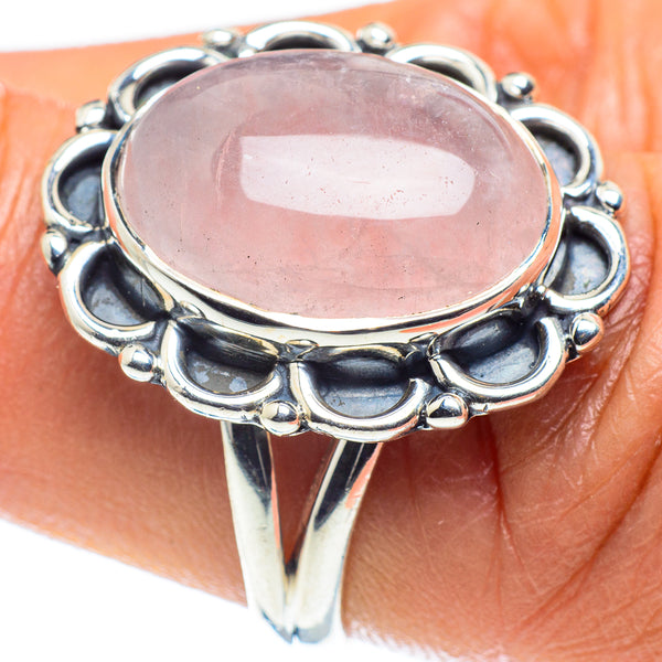 Rose Quartz Rings handcrafted by Ana Silver Co - RING58883