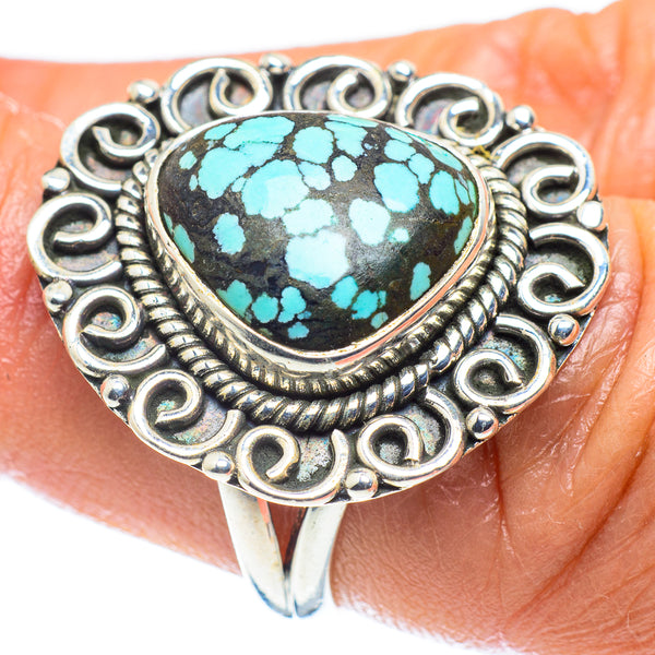 Tibetan Turquoise Rings handcrafted by Ana Silver Co - RING59289