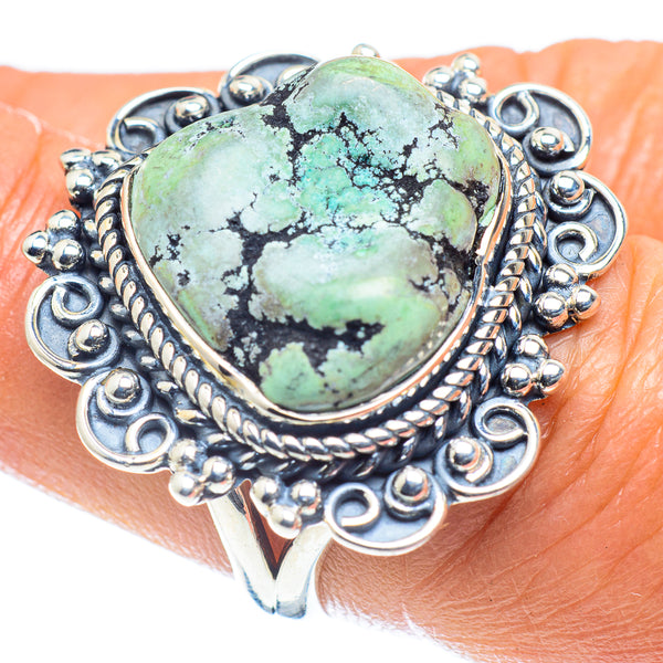 Tibetan Turquoise Rings handcrafted by Ana Silver Co - RING59595