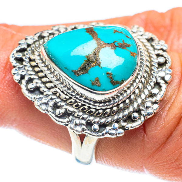 Tibetan Turquoise Rings handcrafted by Ana Silver Co - RING60185