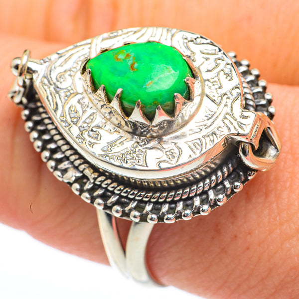 Green Copper Composite Turquoise Rings handcrafted by Ana Silver Co - RING61429