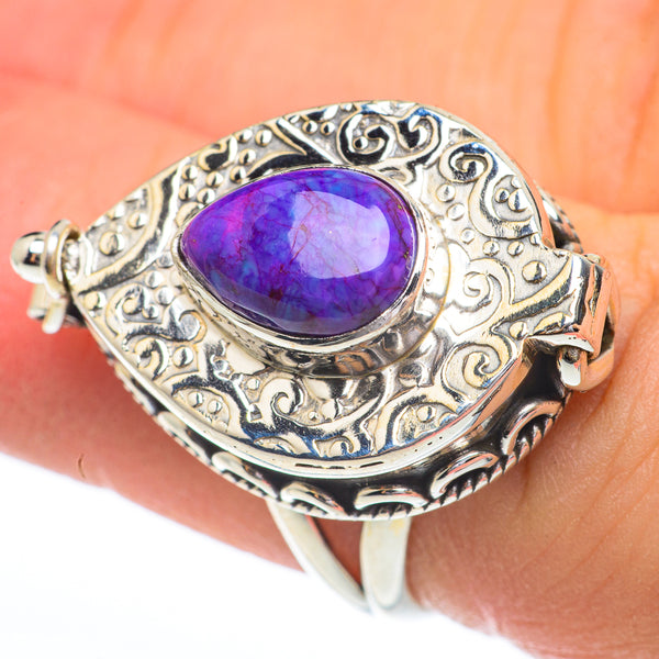 Purple Copper Composite Turquoise Rings handcrafted by Ana Silver Co - RING61485