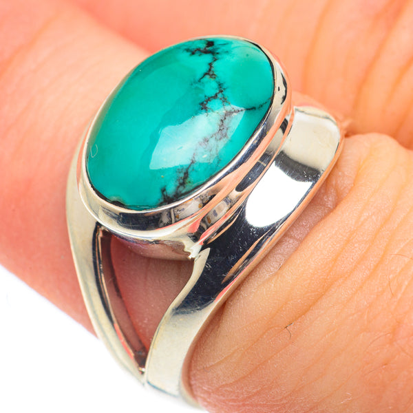 Tibetan Turquoise Rings handcrafted by Ana Silver Co - RING61554