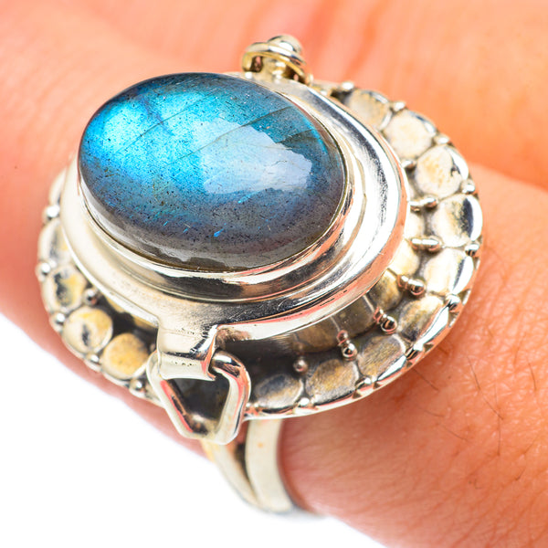 Details about  /Solid 925 Sterling Silver Blue Labradorite Stone Handmade Fine Jewelry Ring KGJ2