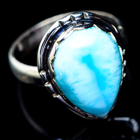 Larimar Rings handcrafted by Ana Silver Co - RING6589