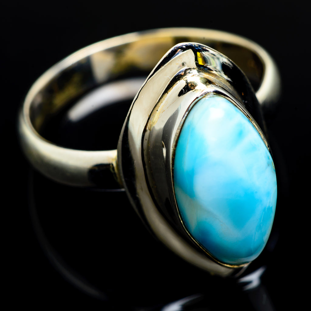 Larimar Rings handcrafted by Ana Silver Co - RING6788