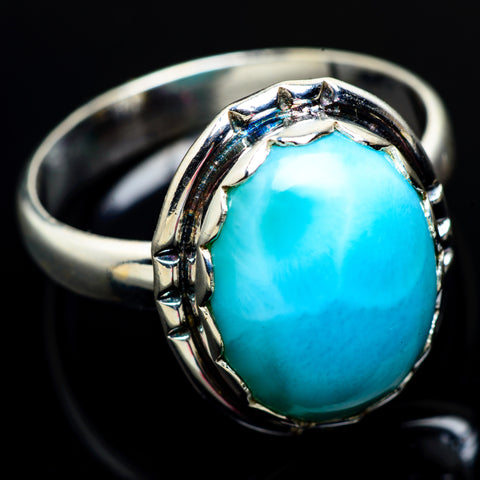 Larimar Rings handcrafted by Ana Silver Co - RING7035