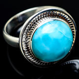 Larimar Rings handcrafted by Ana Silver Co - RING7108