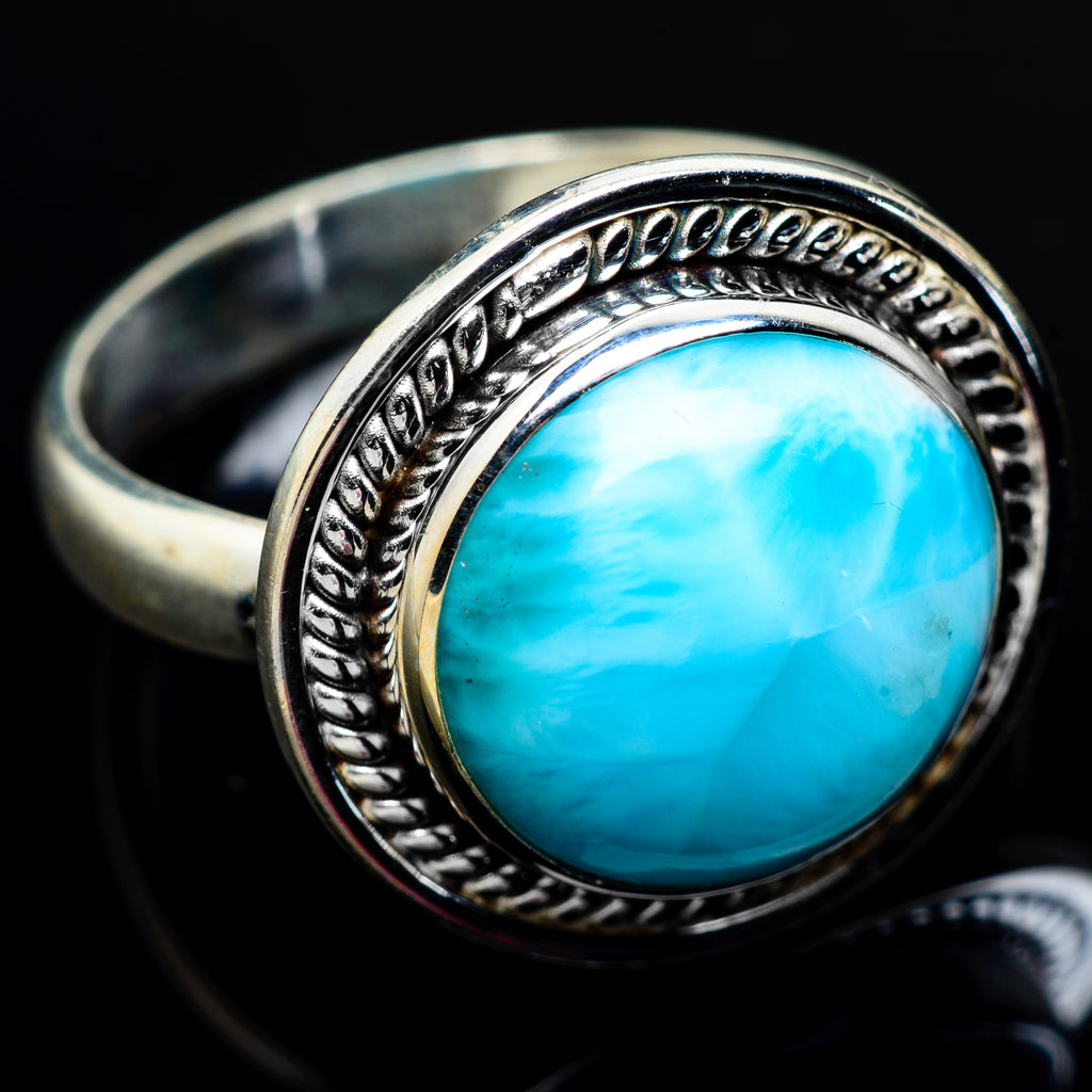 Larimar Rings handcrafted by Ana Silver Co - RING7130