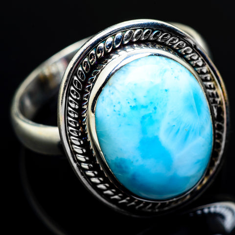 Larimar Rings handcrafted by Ana Silver Co - RING7180