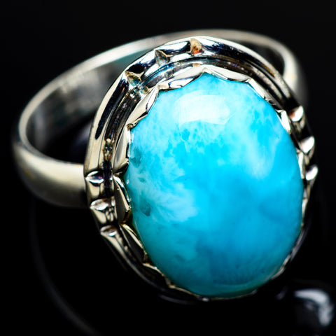 Larimar Rings handcrafted by Ana Silver Co - RING7511
