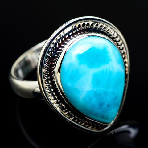 Larimar Rings handcrafted by Ana Silver Co - RING7728