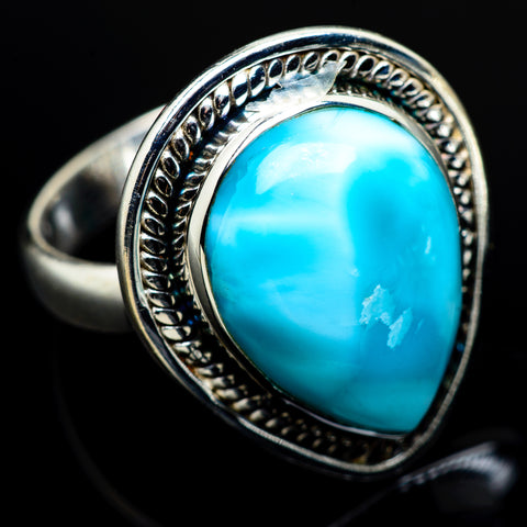 Larimar Rings handcrafted by Ana Silver Co - RING7779