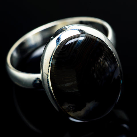 Psilomelane Rings handcrafted by Ana Silver Co - RING7799