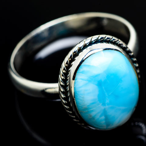 Larimar Rings handcrafted by Ana Silver Co - RING7907