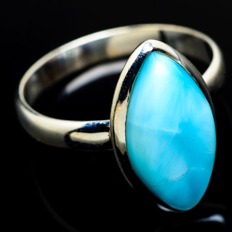 Larimar Rings handcrafted by Ana Silver Co - RING8003