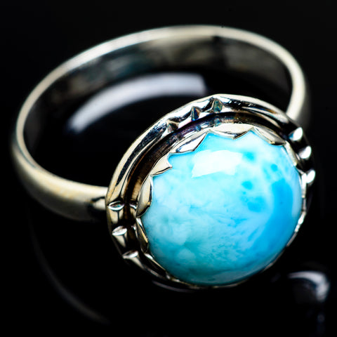 Larimar Rings handcrafted by Ana Silver Co - RING8026
