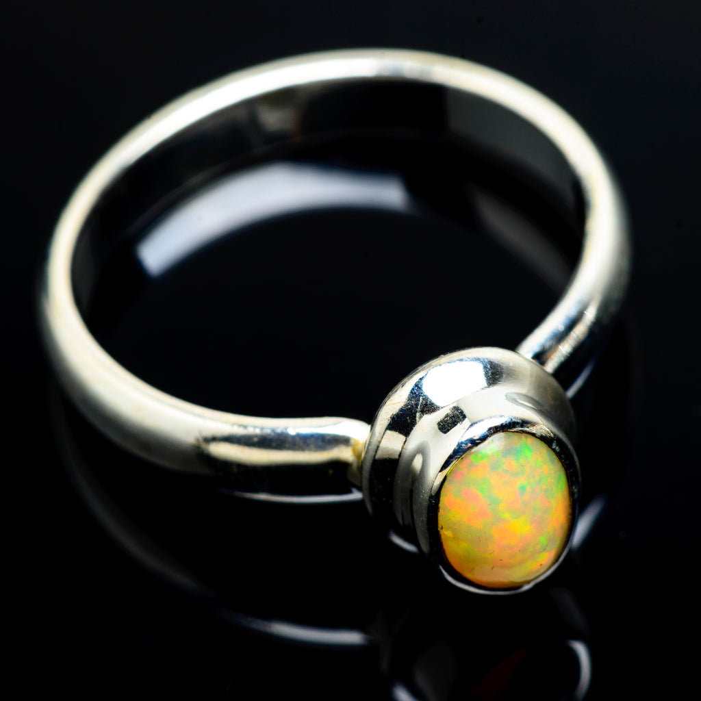 Ethiopian Opal Rings handcrafted by Ana Silver Co - RING8038