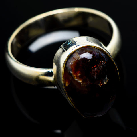 Mexican Fire Agate Rings handcrafted by Ana Silver Co - RING8190