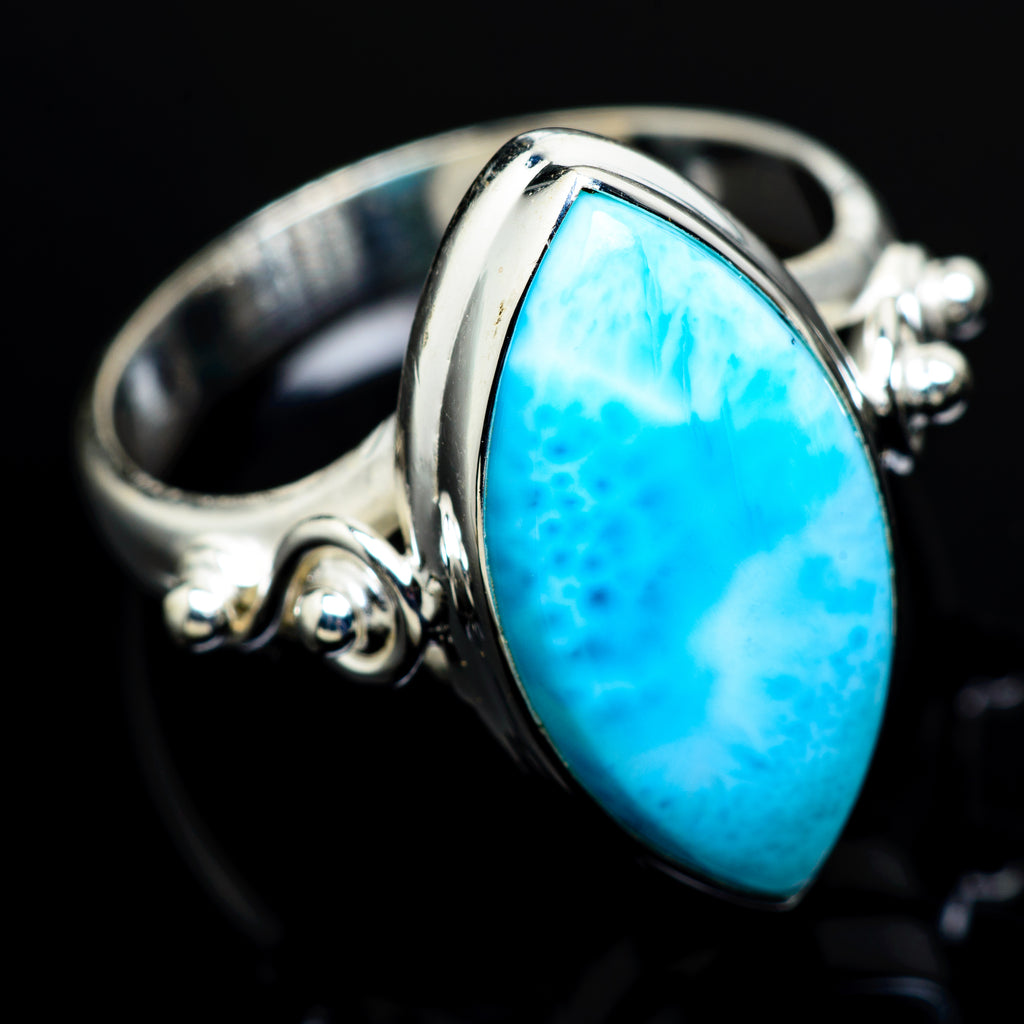 Larimar Rings handcrafted by Ana Silver Co - RING8207