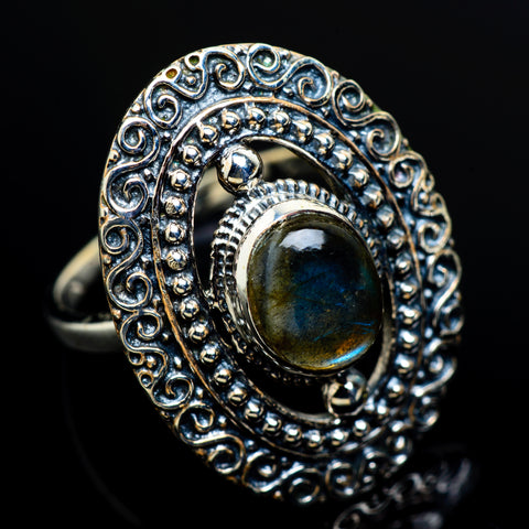 Labradorite Rings handcrafted by Ana Silver Co - RING8236