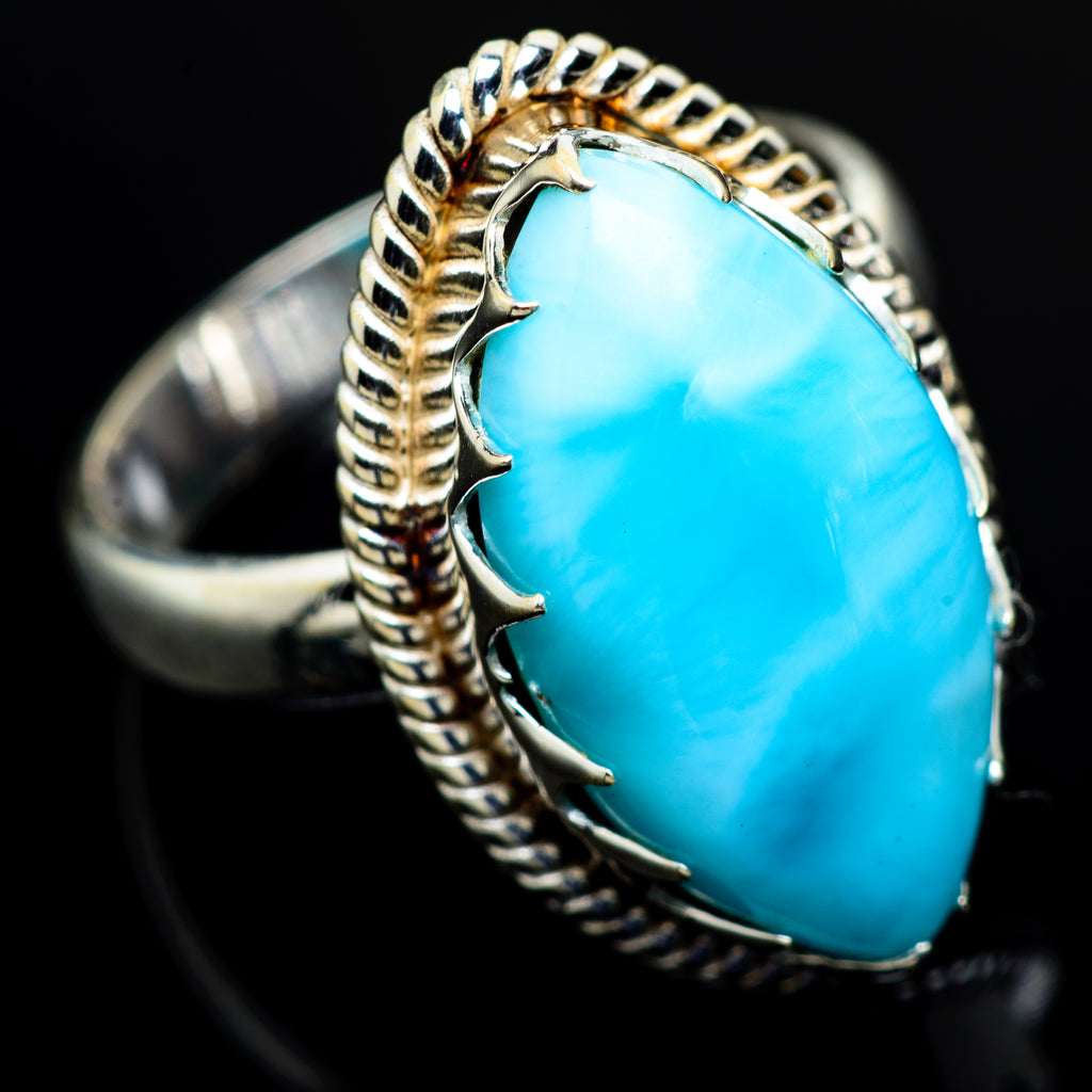 Larimar Rings handcrafted by Ana Silver Co - RING8430