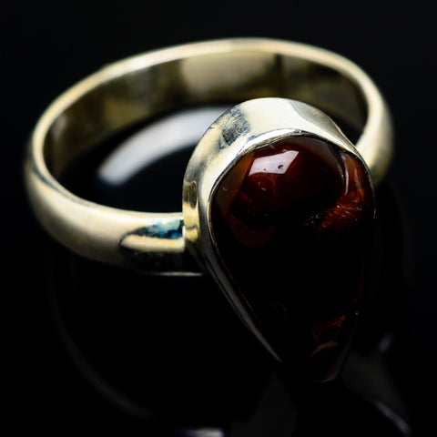 Mexican Fire Agate Rings handcrafted by Ana Silver Co - RING8588