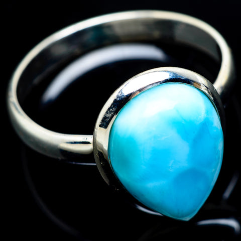 Larimar Rings handcrafted by Ana Silver Co - RING8632