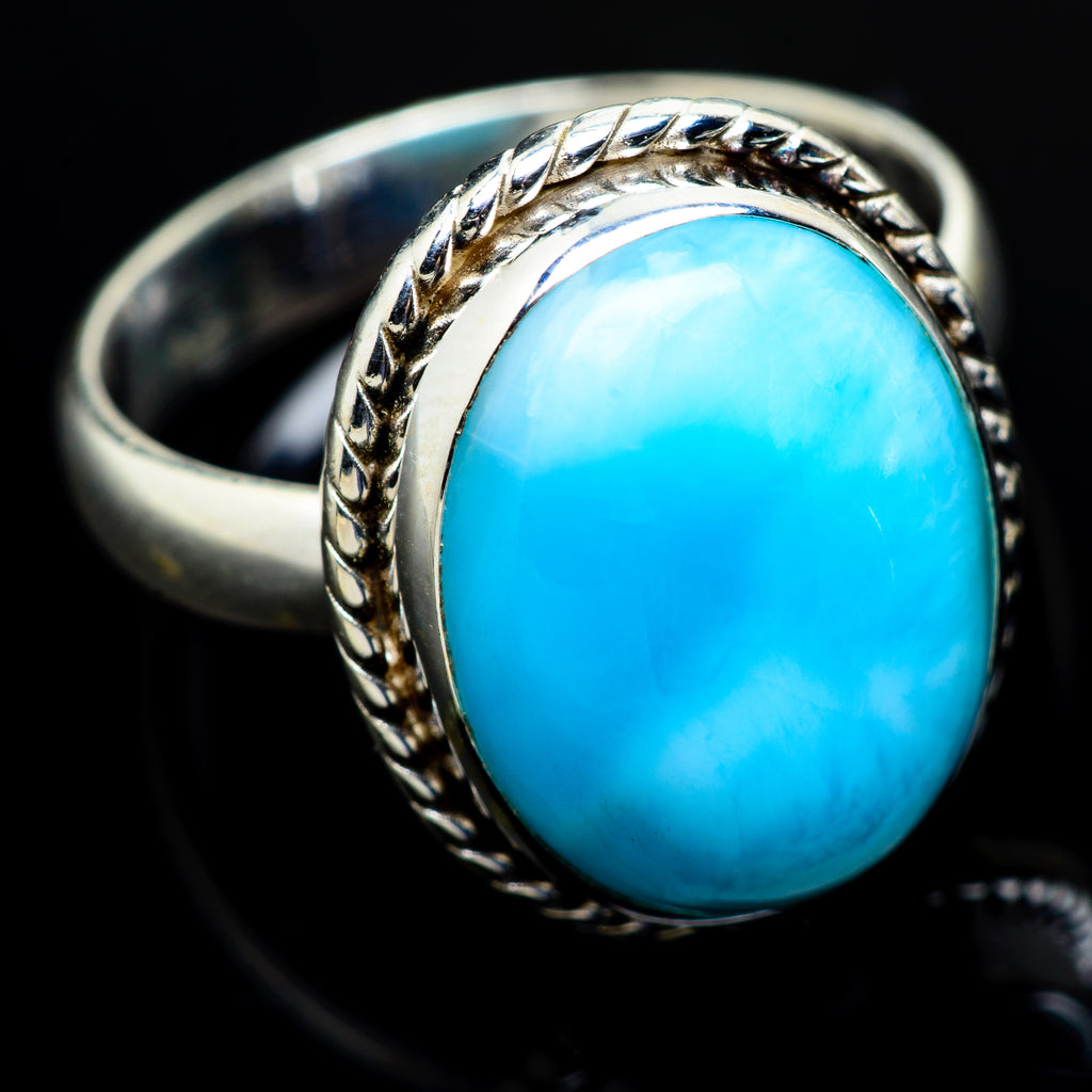 Larimar Rings handcrafted by Ana Silver Co - RING8724