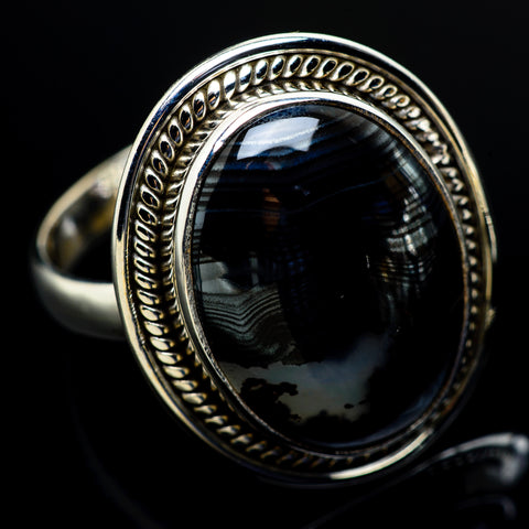 Psilomelane Rings handcrafted by Ana Silver Co - RING8967