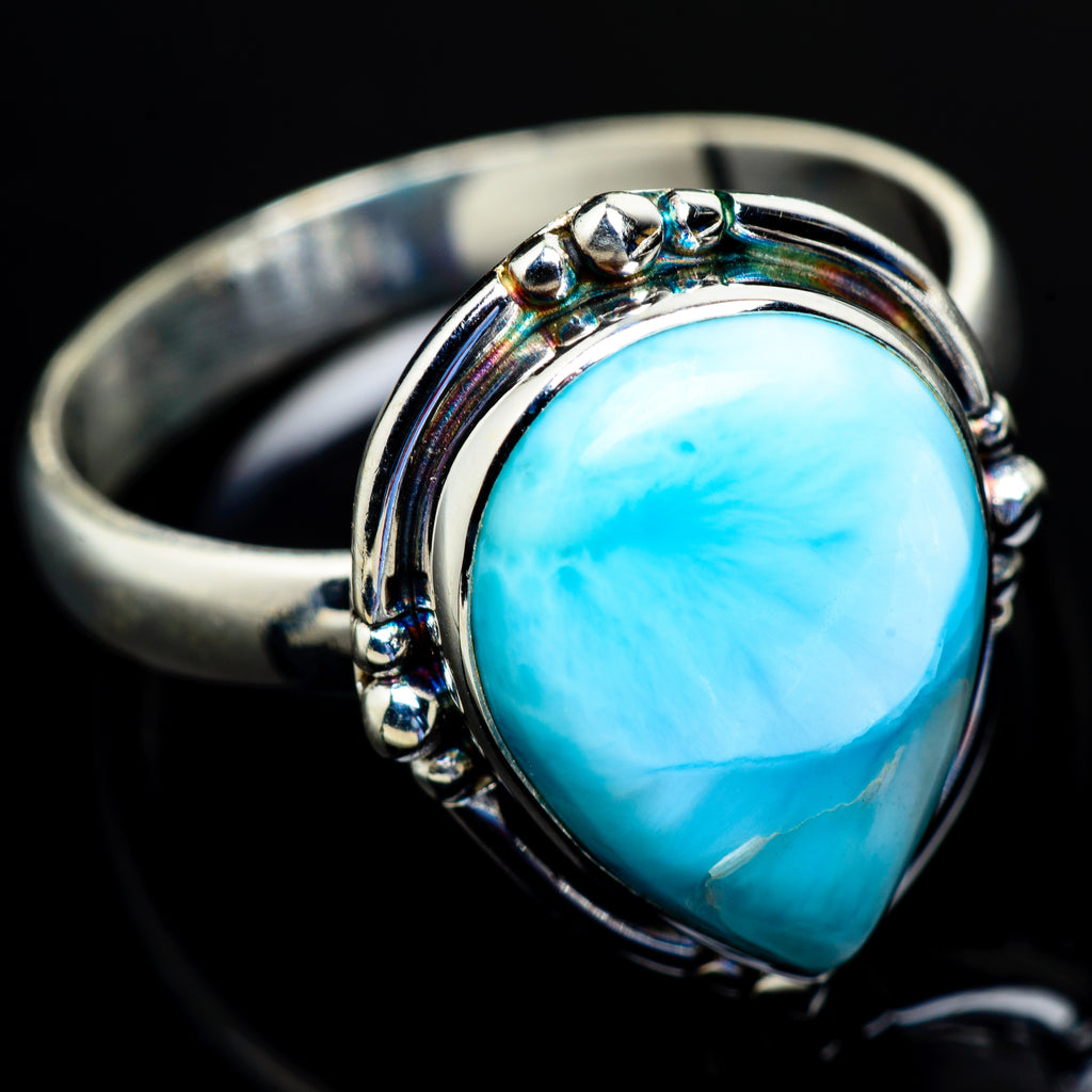 Larimar Rings handcrafted by Ana Silver Co - RING9010