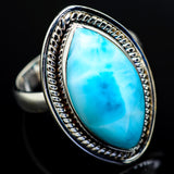Larimar Rings handcrafted by Ana Silver Co - RING9436