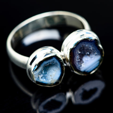 Coconut Geode Druzy Rings handcrafted by Ana Silver Co - RING961976