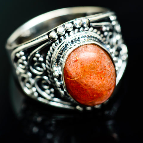 Sunstone Rings handcrafted by Ana Silver Co - RING964253