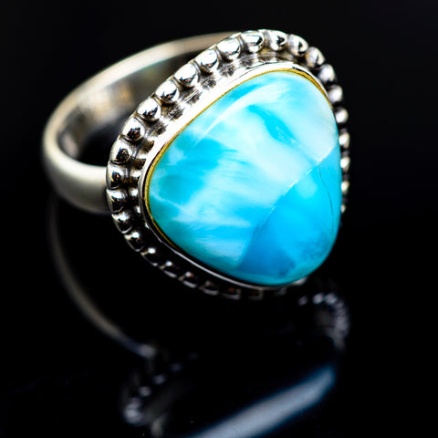Larimar Rings handcrafted by Ana Silver Co - RING974506