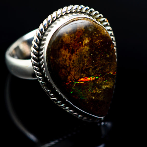 Ammolite Rings handcrafted by Ana Silver Co - RING977107