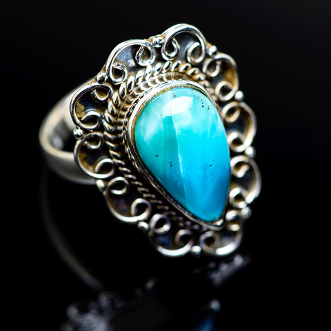 Larimar Rings handcrafted by Ana Silver Co - RING977760
