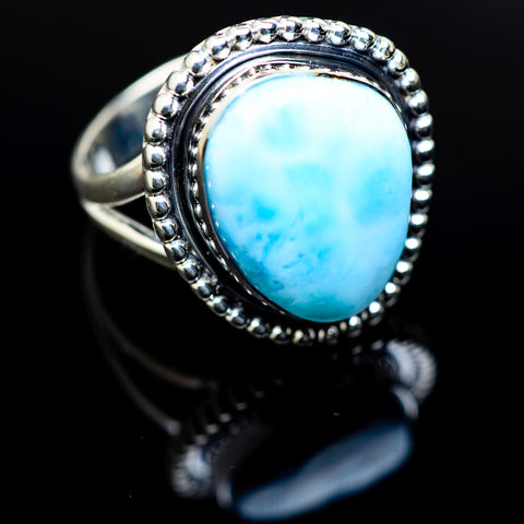 Larimar Rings handcrafted by Ana Silver Co - RING978572