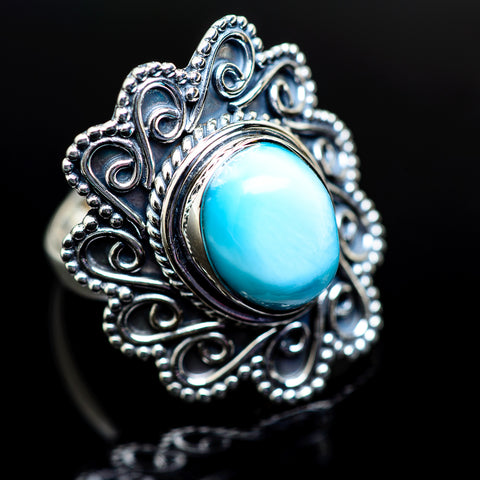 Larimar Rings handcrafted by Ana Silver Co - RING979396