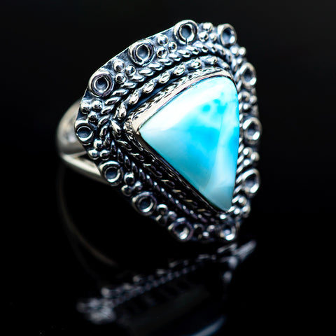 Larimar Rings handcrafted by Ana Silver Co - RING979510